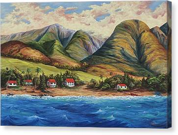 Canvas Print featuring the painting West Maui Living by Darice Machel McGuire