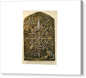 West Meets Southwest Compass Rose Canvas Print by Thor Sigstedt