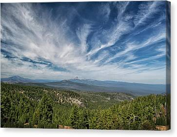 West Of Crater Lake Canvas Print by Frank Wilson