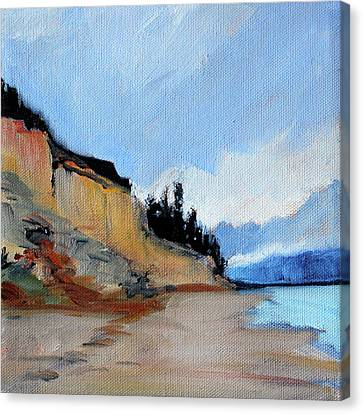 Canvas Print featuring the painting West Of Dungeness by Nancy Merkle