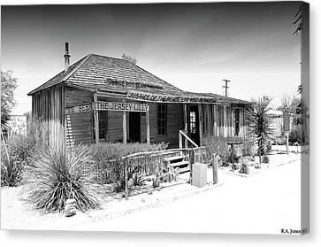 Judge Roy Bean Canvas Print - West Of The Pecos by Robert A Jones