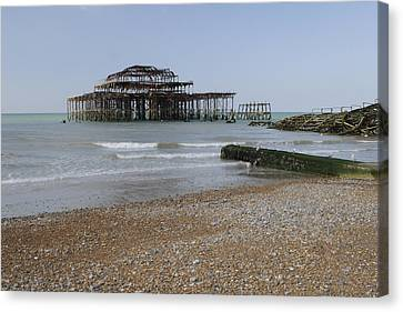 West Pier Canvas Print by Nichola Denny