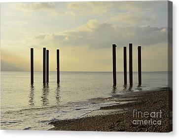 West Pier Supports Canvas Print by Nichola Denny