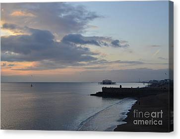 West Pier Views Canvas Print by Nichola Denny
