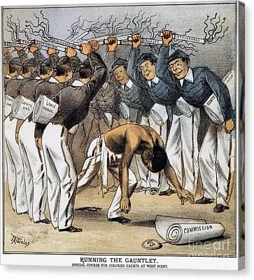 West Point Cartoon, 1880 Canvas Print by Granger