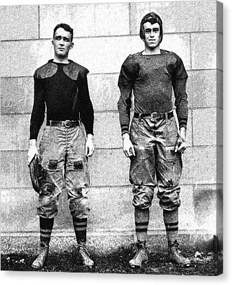 West Point Football Players Charles Love Mullins Jr. And Joseph Pescia Sullivan, 1913.  Canvas Print by Celestial Images