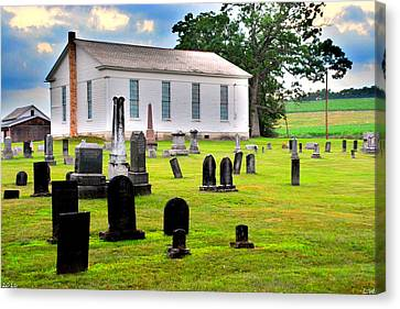 West Beaver United Presbyterian Church And Cemetery Canvas Print by Lisa Wooten