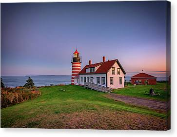 East Quoddy Lighthouse Canvas Print - West Quoddy Head Light At Dusk by Rick Berk