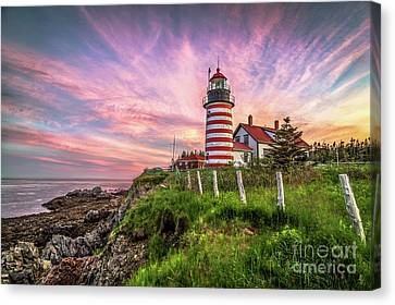 West Quoddy Head Light Canvas Print by Benjamin Williamson