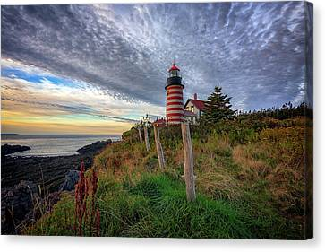 Quoddy Canvas Print - West Quoddy Head Light Station by Rick Berk