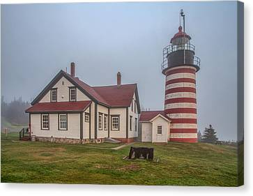 West Quoddy Head Light Canvas Print by Tom Weisbrook