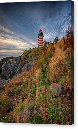 East Quoddy Lighthouse Canvas Print - West Quoddy Head Lighthouse by Rick Berk