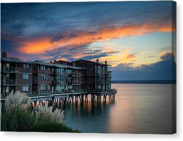 Canvas Print featuring the photograph West Seattle Living by Dan Mihai