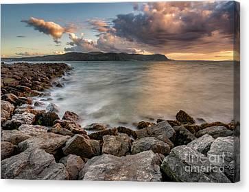 West Shore Sunset Canvas Print by Adrian Evans