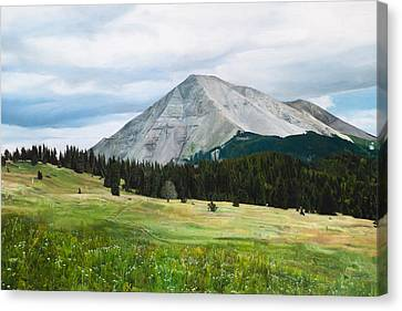 West Spanish Peak In Summer Canvas Print by Joshua Martin