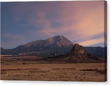 Canvas Print featuring the photograph West Spanish Peak Sunset by Aaron Spong