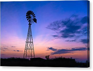 West Texas Windmill Canvas Print