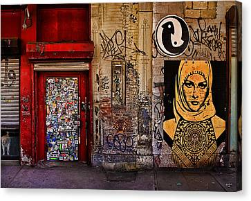West Village Wall Nyc Canvas Print by Chris Lord