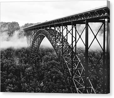 Black And White Canvas Print - West Virginia - New River Gorge Bridge by Brendan Reals