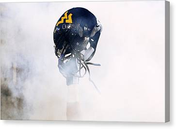 West Virginia Helmet Canvas Print by Getty Images