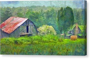 West Virginia Homestead Canvas Print by Judy Coggin