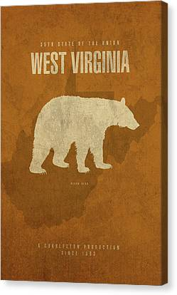 Movie Poster Canvas Print - West Virginia State Facts Minimalist Movie Poster Art by Design Turnpike