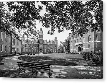 Wv Canvas Print - West Virginia University Woodburn Circle by University Icons