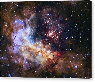 Westerlund 2 - Hubble 25th Anniversary Image Canvas Print by Adam Romanowicz