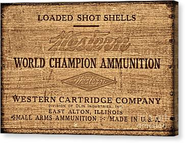 Western Ammunition Box Canvas Print by American West Legend By Olivier Le Queinec