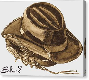 Western Apparel Canvas Print by Sher'l