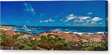Canvas Print featuring the photograph Western Australia Beach Panorama by David Zanzinger