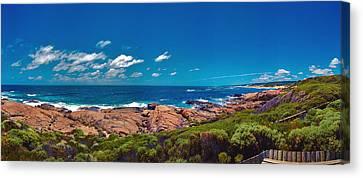 Canvas Print featuring the photograph Western Australia Beach Panorama Margaret River by David Zanzinger