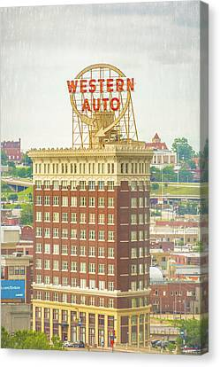 Western Auto Canvas Print by Pamela Williams