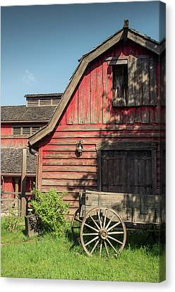 Western Barn Canvas Print by Carlos Caetano