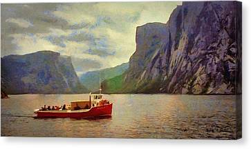 Western Brook Pond Canvas Print by Jeff Kolker