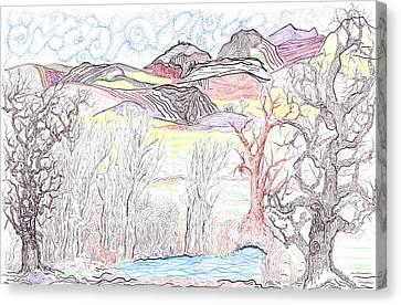 Western Foothills Canvas Print