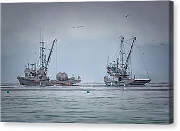 Canvas Print featuring the photograph Western Gambler And Marinet by Randy Hall
