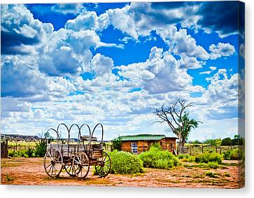 Western Homestead Canvas Print by Daniel Dean