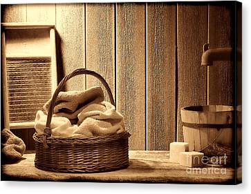 Western Laundromat   Canvas Print by American West Legend By Olivier Le Queinec