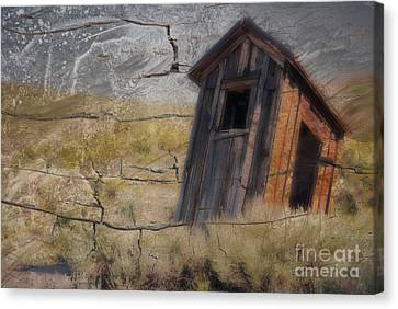 Western Outhouse Canvas Print by Ron Hoggard