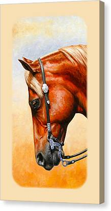 Western Pleasure Horse Phone Case Canvas Print by Crista Forest