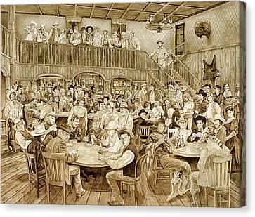 Western Saloon Canvas Print