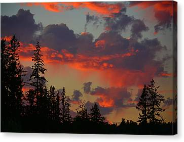 Western Sky Fire Canvas Print