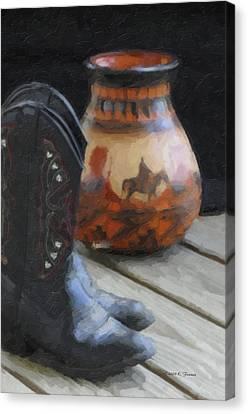 Western Still Life Canvas Print by Kenny Francis
