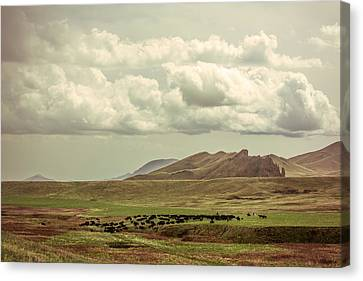 Stormy Weather Canvas Print - Western Storm by Todd Klassy