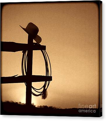 Western Sunset Canvas Print by American West Legend By Olivier Le Queinec