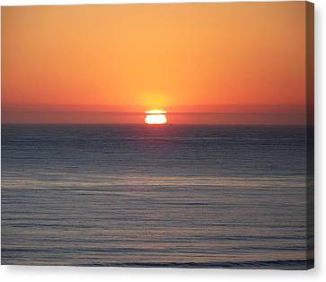 Western Sunset Canvas Print by Angi Parks