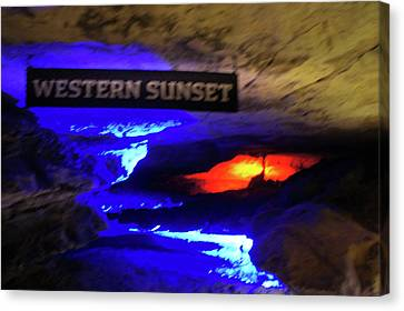Western Sunset At Ruby Falls Cave Canvas Print