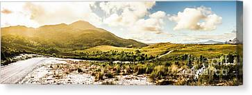 Western Tasmania Mountain Range Canvas Print by Jorgo Photography - Wall Art Gallery