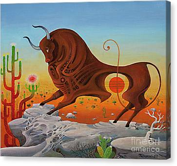 Western Taurus, Horoscope Sign Canvas Print
